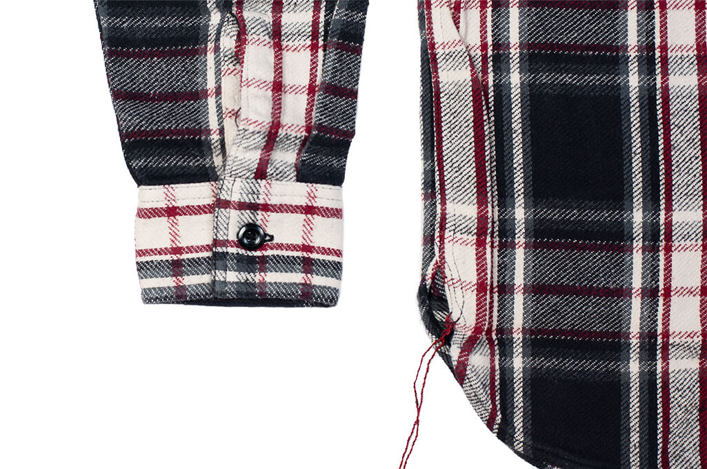 Sugar Cane Twill Check Flannel Shirt - Sine Wave Black - Image 5
