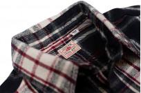 Sugar Cane Twill Check Flannel Shirt - Sine Wave Black - Image 6
