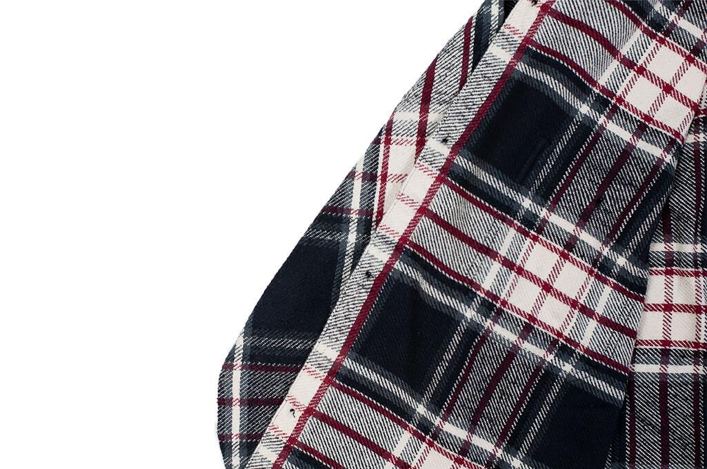 Sugar Cane Twill Check Flannel Shirt - Sine Wave Black - Image 9