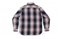 Sugar Cane Twill Check Flannel Shirt - Sine Wave Black - Image 10