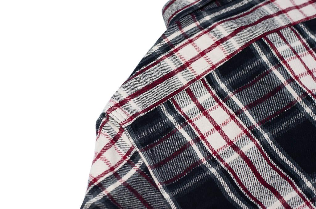 Sugar Cane Twill Check Flannel Shirt - Sine Wave Black - Image 11