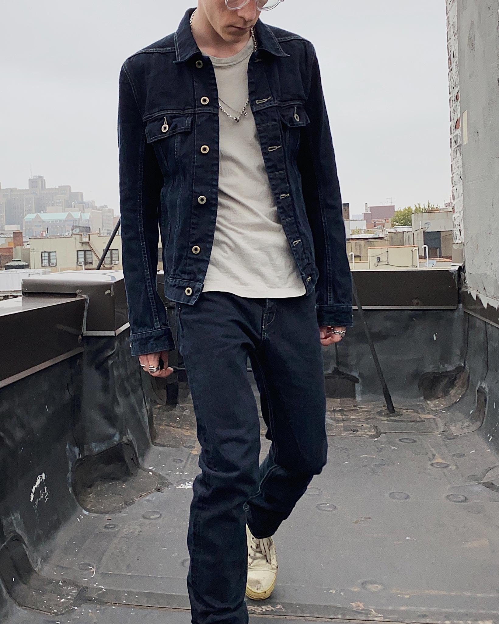 Rick Owens DRKSHDW Worker Jacket - Made in Japan Overdyed (Self Edge Exclusive) - Image 15