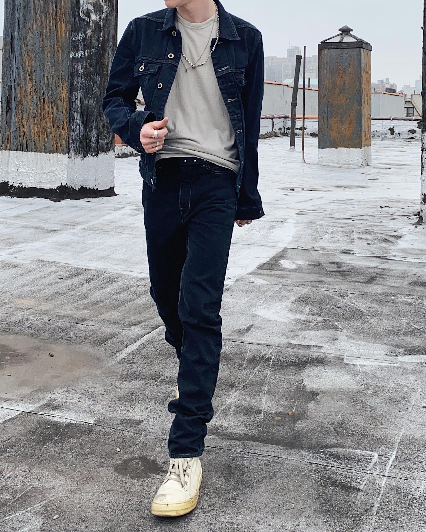 Rick Owens DRKSHDW Worker Jacket - Made in Japan Overdyed (Self Edge Exclusive) - Image 18