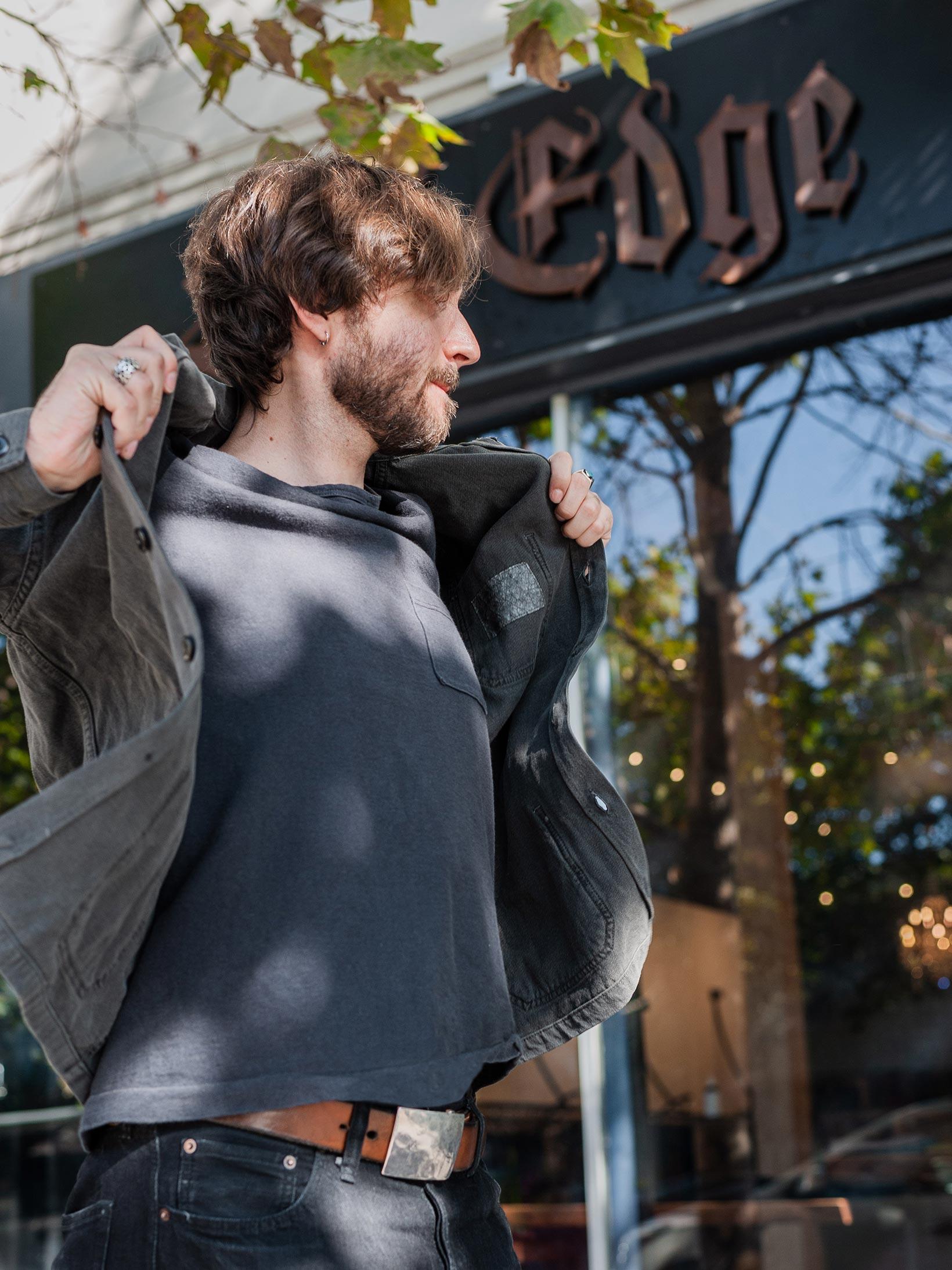 3sixteen Garment Dyed Shop Jacket - Smoke - Image 25