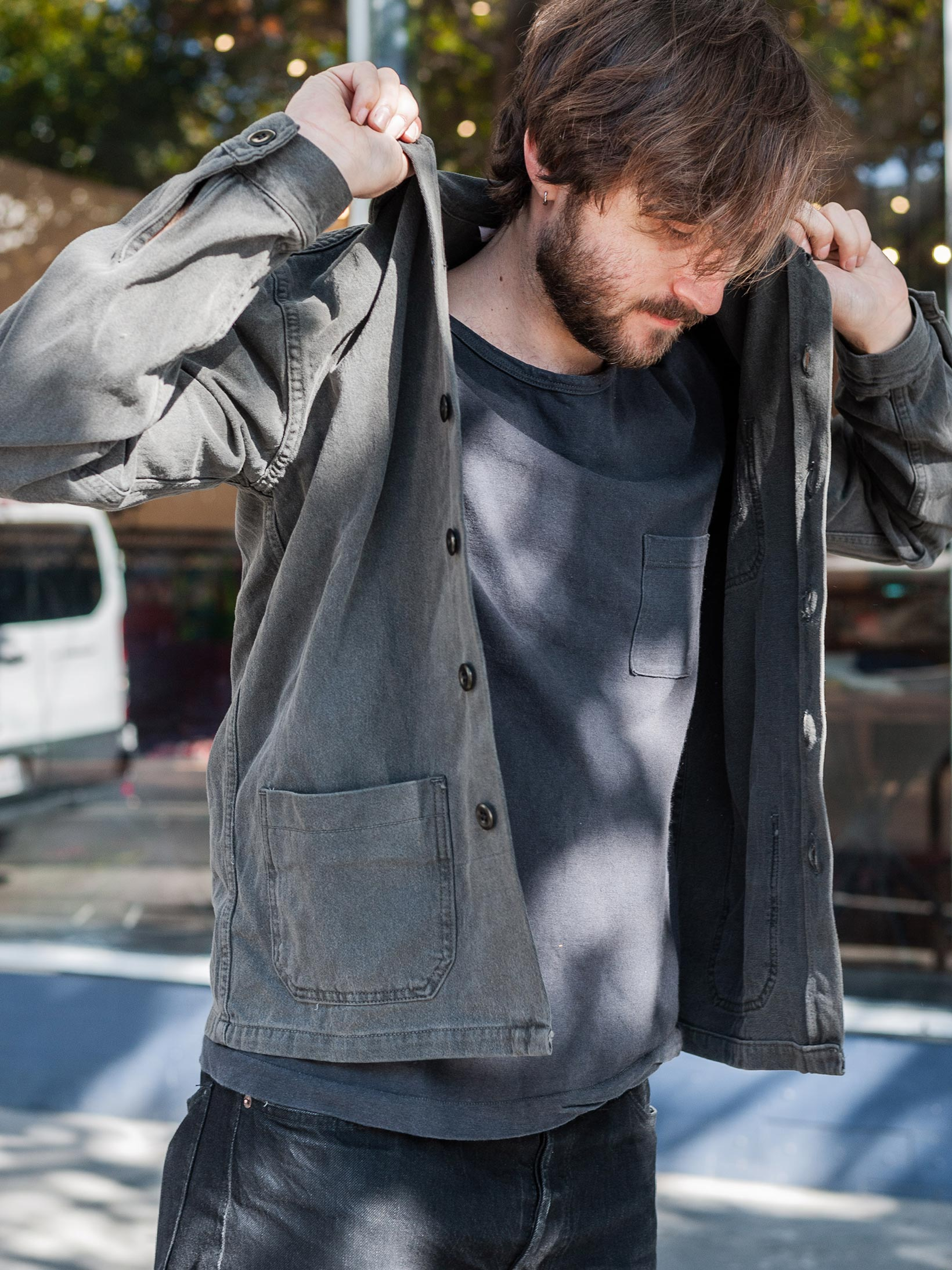 3sixteen Garment Dyed Shop Jacket - Smoke - Image 26