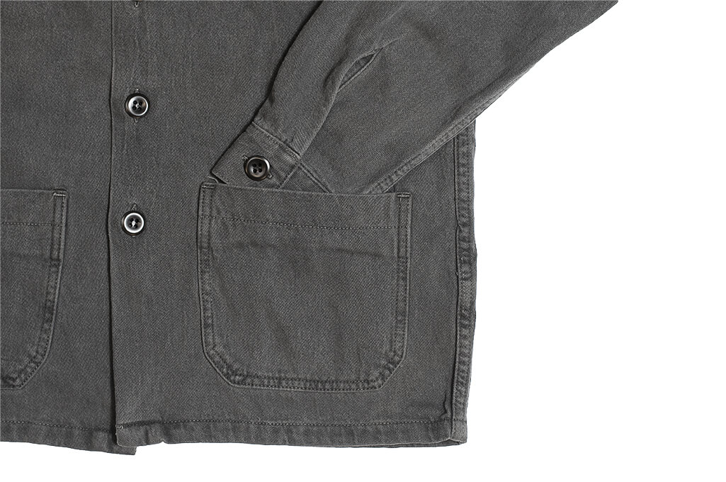 3sixteen Garment Dyed Shop Jacket - Smoke - Image 3