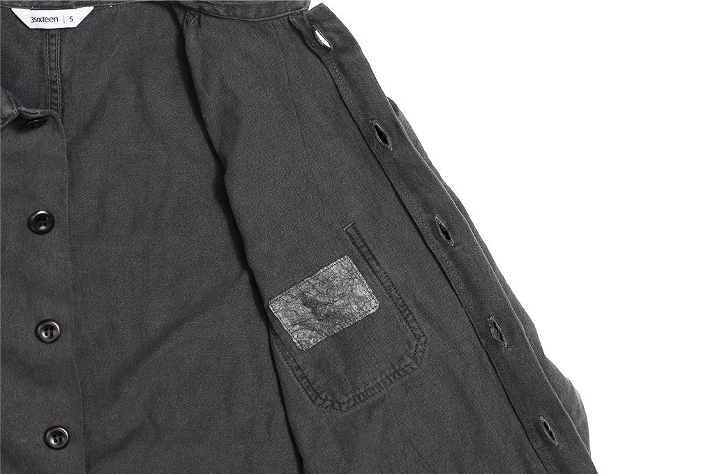 3sixteen Garment Dyed Shop Jacket - Smoke - Image 10