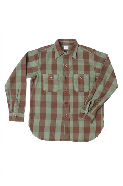Warehouse Heavy Winter Flannel - Positive Brown/Green