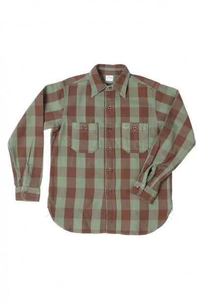 Warehouse Heavy Winter Flannel - Positive Brown/Green