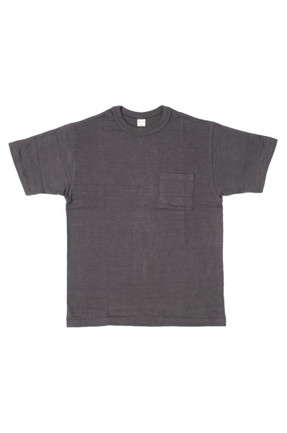 Warehouse Slub Cotton T-Shirt - Black w/ Pocket