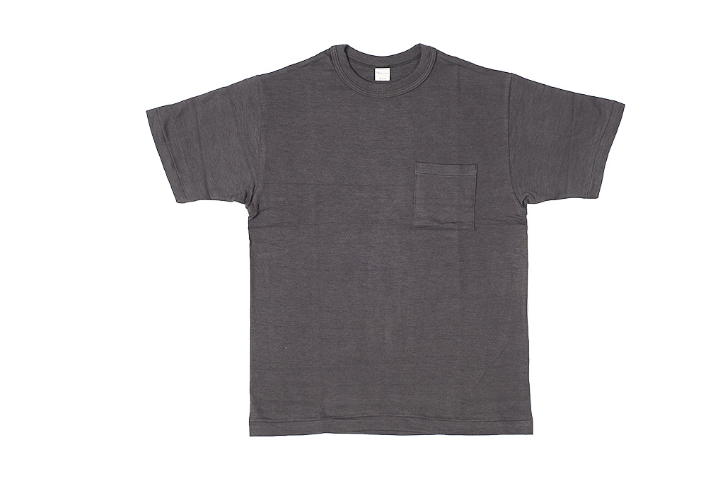 Warehouse Slub Cotton T-Shirt - Black w/ Pocket - Image 1