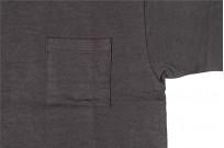 Warehouse Slub Cotton T-Shirt - Black w/ Pocket - Image 2
