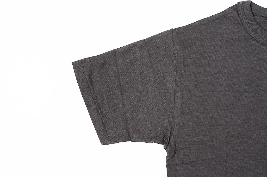 Warehouse Slub Cotton T-Shirt - Black w/ Pocket - Image 5
