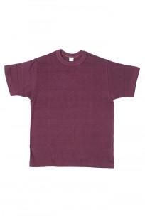 Warehouse Slub Cotton T-Shirt -Bordeaux Plain - Image 0