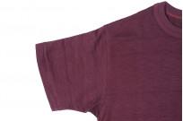 Warehouse Slub Cotton T-Shirt -Bordeaux Plain - Image 5