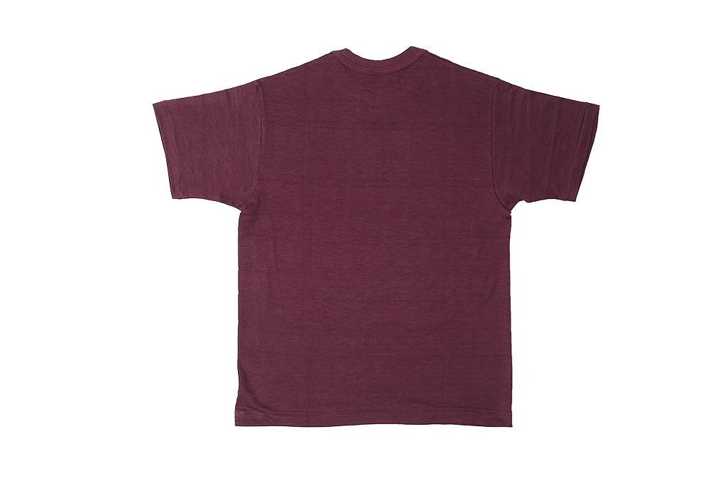 Warehouse Slub Cotton T-Shirt -Bordeaux Plain - Image 6