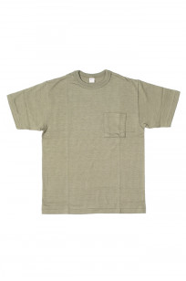 Warehouse Slub Cotton T-Shirt - Dark Olive w/ Pocket - Image 0