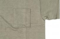 Warehouse Slub Cotton T-Shirt - Dark Olive w/ Pocket - Image 2