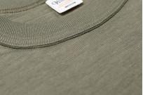 Warehouse Slub Cotton T-Shirt - Dark Olive w/ Pocket - Image 4