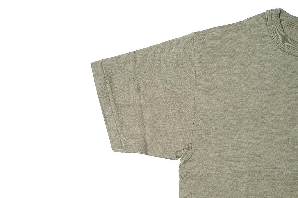 Warehouse Slub Cotton T-Shirt - Dark Olive w/ Pocket - Image 5