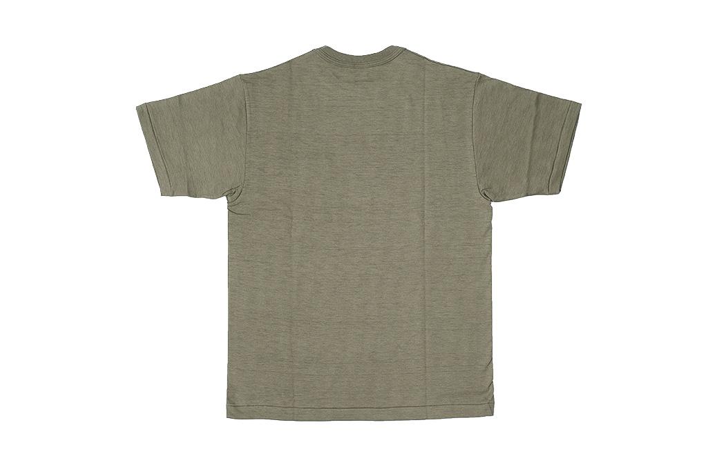 Warehouse Slub Cotton T-Shirt - Dark Olive w/ Pocket - Image 6
