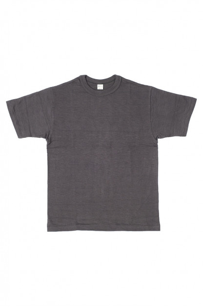 Warehouse Slub Cotton T-Shirt - Black Plain