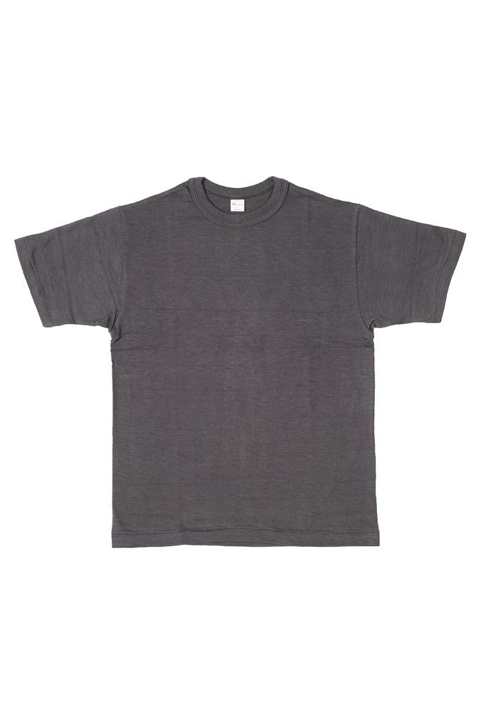 Warehouse Slub Cotton T-Shirt - Black Plain - Image 0