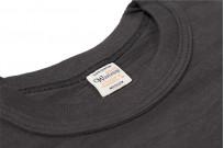 Warehouse Slub Cotton T-Shirt - Black Plain - Image 3