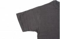 Warehouse Slub Cotton T-Shirt - Black Plain - Image 5