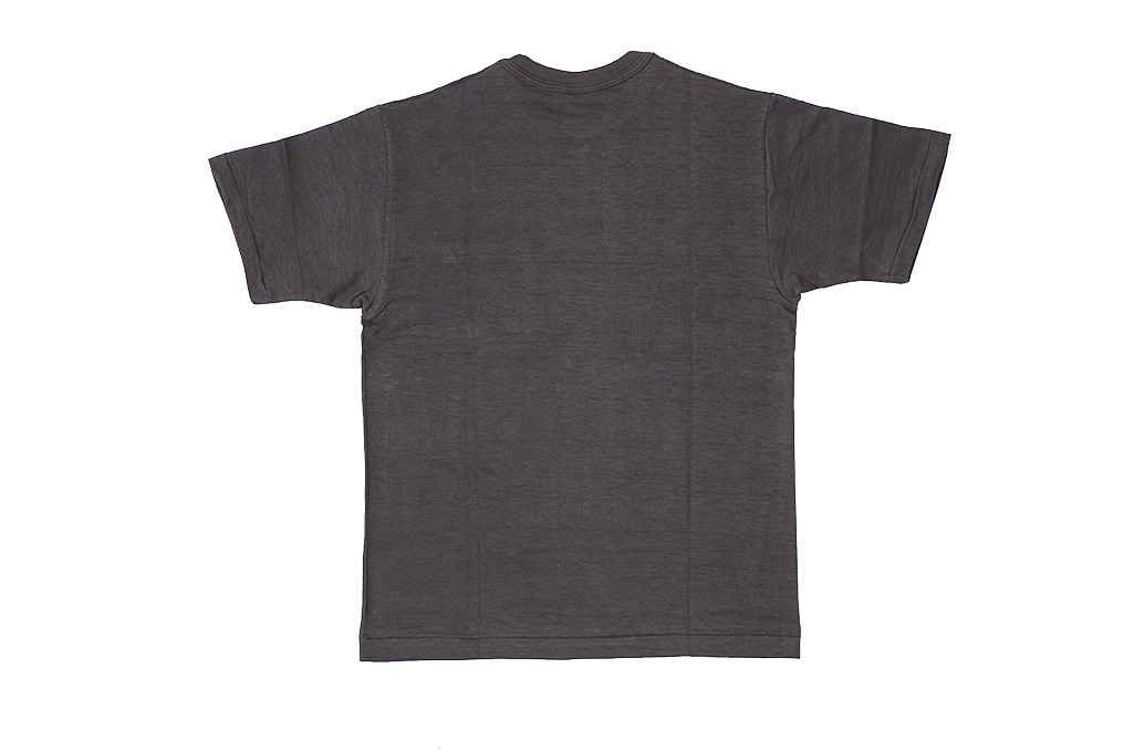 Warehouse Slub Cotton T-Shirt - Black Plain - Image 6