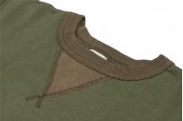 Buzz Rickson Flatlock Seam Crewneck Sweater - Olive - Image 5