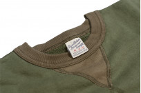 Buzz Rickson Flatlock Seam Crewneck Sweater - Olive - Image 9
