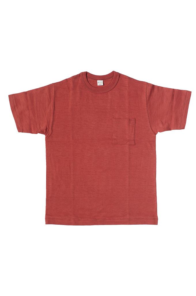 Warehouse Slub Cotton T-Shirt - Red w/ Pocket - Image 0