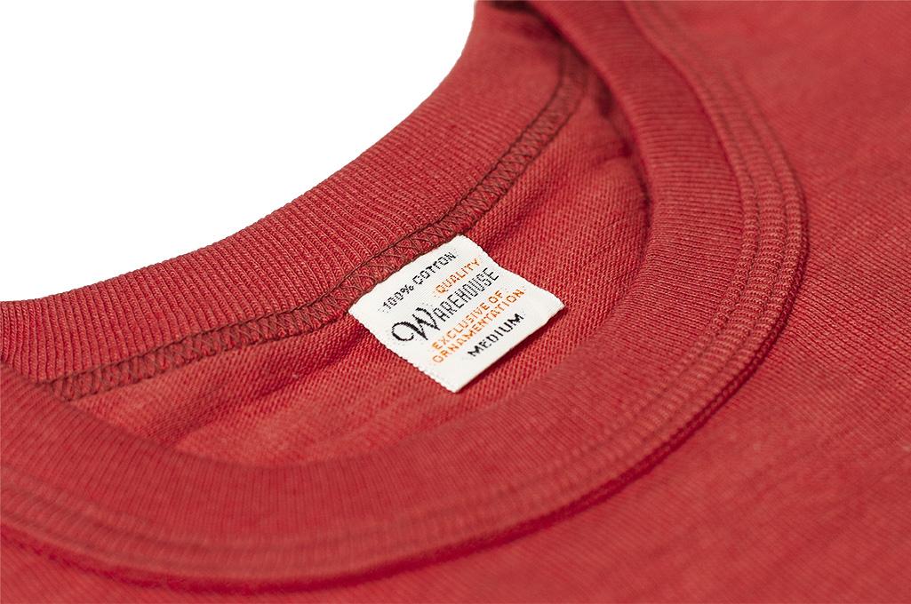 Warehouse_Slub_Cotton_T_Shirt_Red_w_Pock