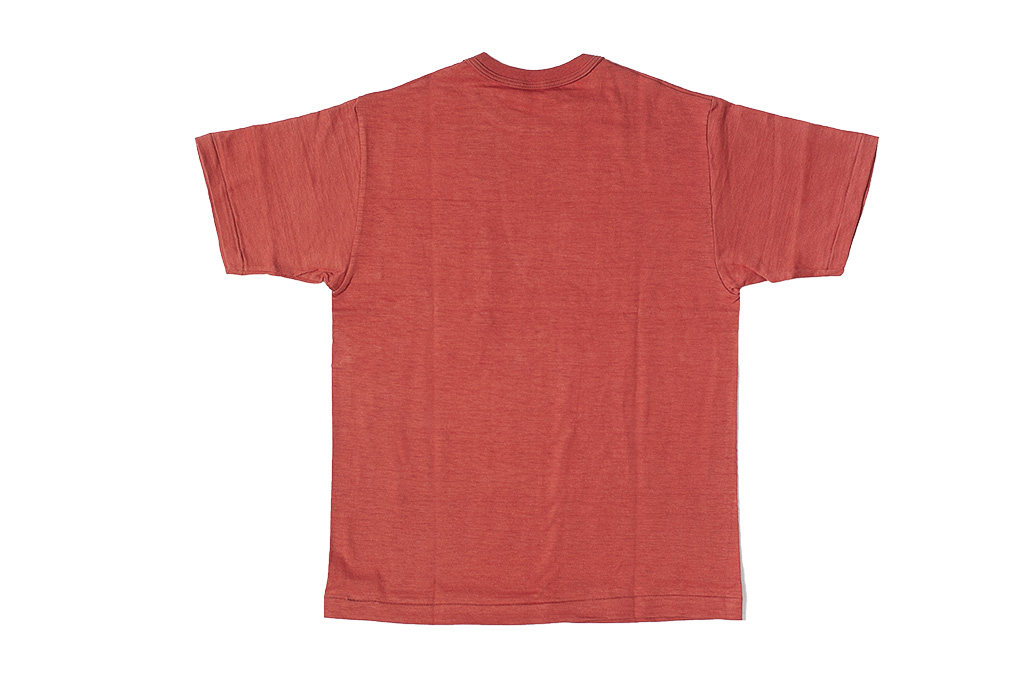 Warehouse Slub Cotton T-Shirt - Red w/ Pocket - Image 6