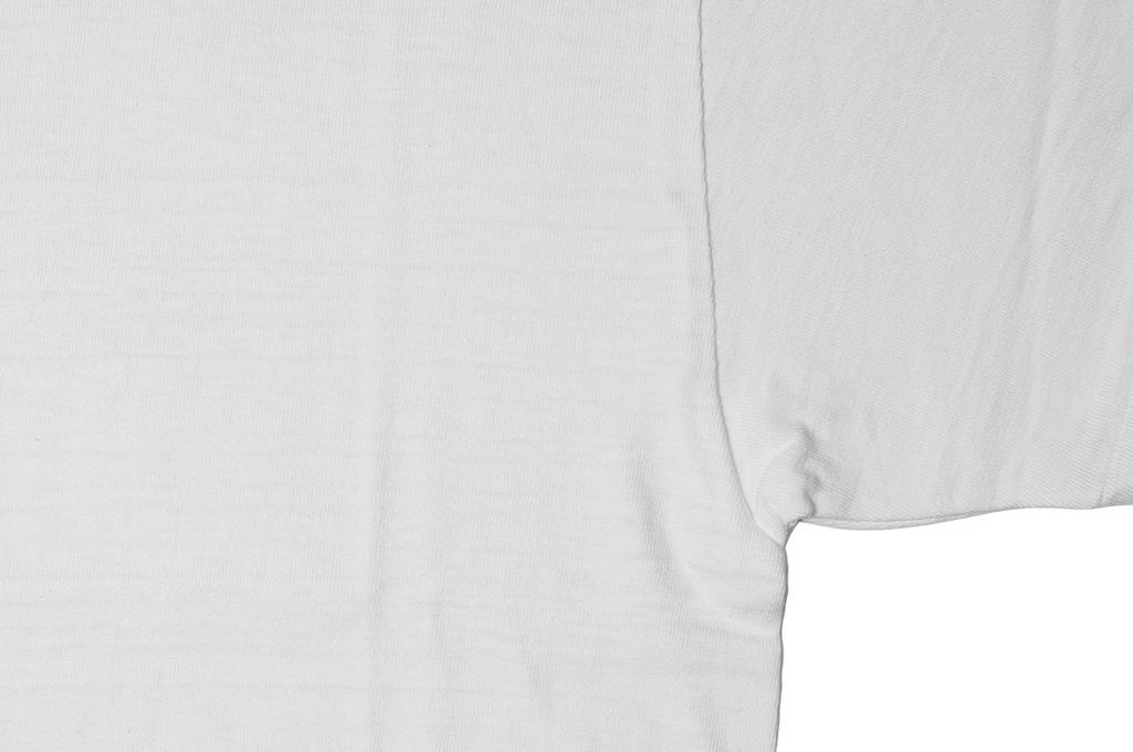 Warehouse Slub Cotton T-Shirt - White Plain - Image 2