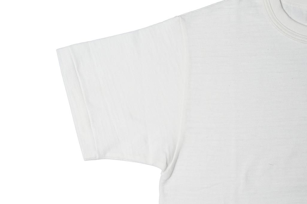 Warehouse Slub Cotton T-Shirt - White Plain - Image 3