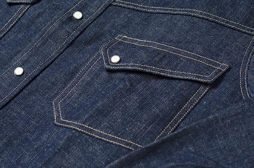 Warehouse Longhorn Denim Shirt - Image 8