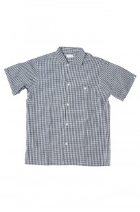 Warehouse Short Sleeve Buttoned Shirt - Fine Check Pattern - Image 0