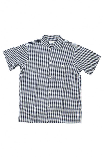 Warehouse Short Sleeve Buttoned Shirt - Fine Check Pattern