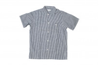 Warehouse Short Sleeve Buttoned Shirt - Fine Check Pattern - Image 1