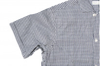 Warehouse Short Sleeve Buttoned Shirt - Fine Check Pattern - Image 4
