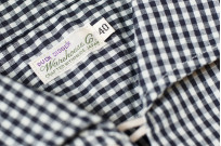Warehouse Short Sleeve Buttoned Shirt - Fine Check Pattern - Image 6