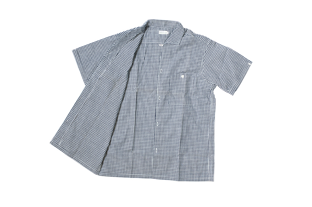 Warehouse Short Sleeve Buttoned Shirt - Fine Check Pattern - Image 7