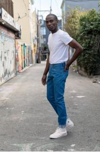 Pure Blue Japan BG-019 Blue Gray Denim Jeans - Straight Tapered - Image 0