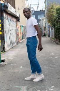 Pure Blue Japan BG-019 Blue Gray Denim Jeans - Straight Tapered - Image 1