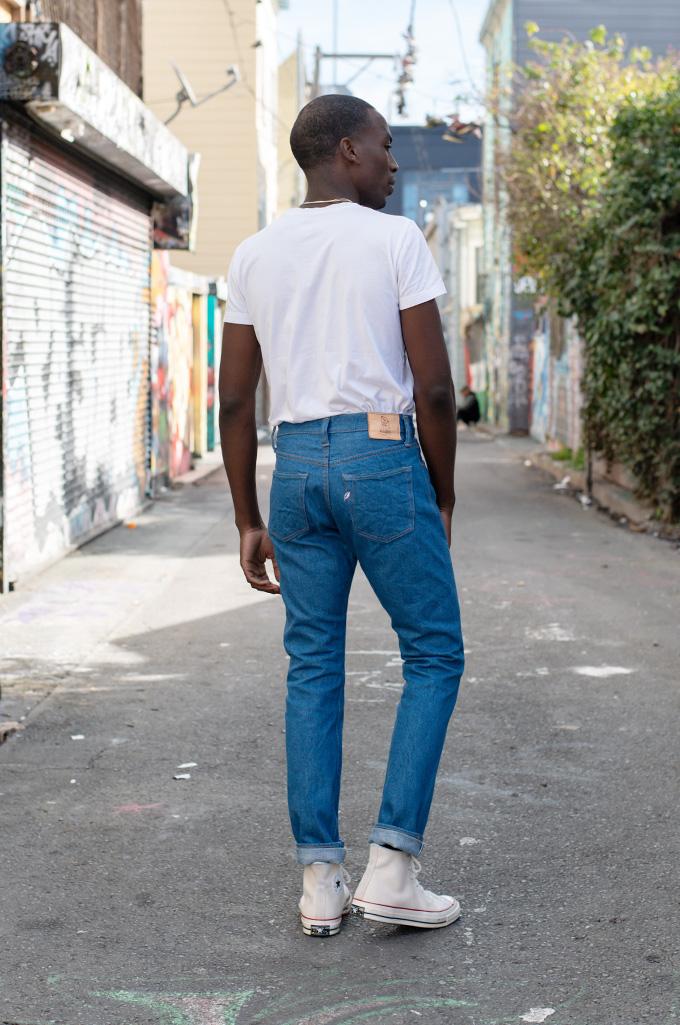 Pure Blue Japan BG-019 Blue Gray Denim Jeans - Straight Tapered - Image 3