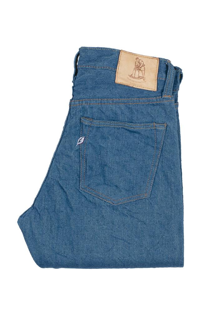 Pure Blue Japan BG-019 Blue Gray Denim Jeans - Straight Tapered - Image 5