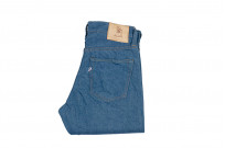 Pure Blue Japan BG-019 Blue Gray Denim Jeans - Straight Tapered - Image 6
