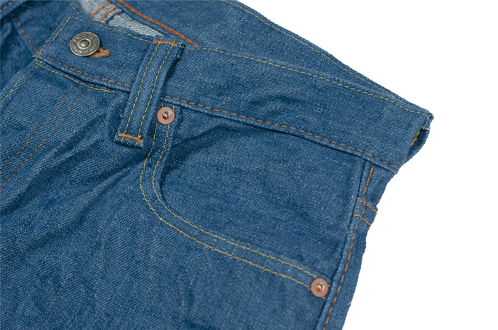 Pure Blue Japan BG-019 Blue Gray Denim Jeans - Straight Tapered - Image 8